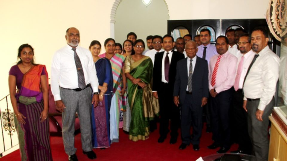 lanka-health-minister-with-embassy-oficials-and-staff