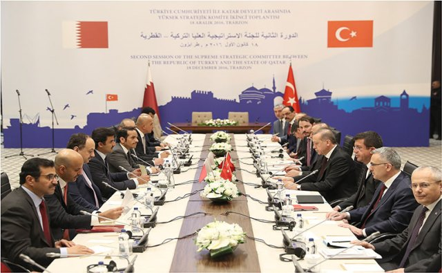 Emir of Qatar and Turkish President CoChair High Level Strategic Committee Meeting