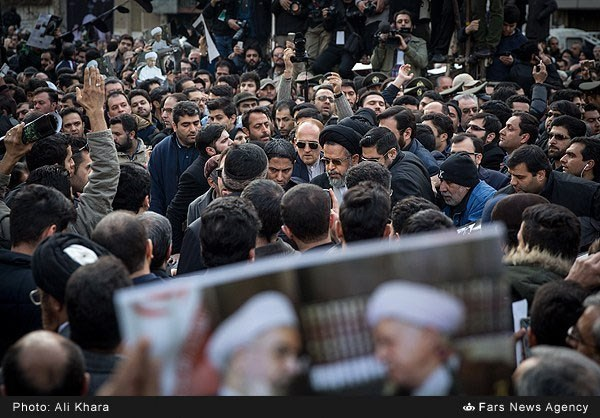 Tens of thousands of people attended funeral procession of Akbar Rafsanjani on Tuesday