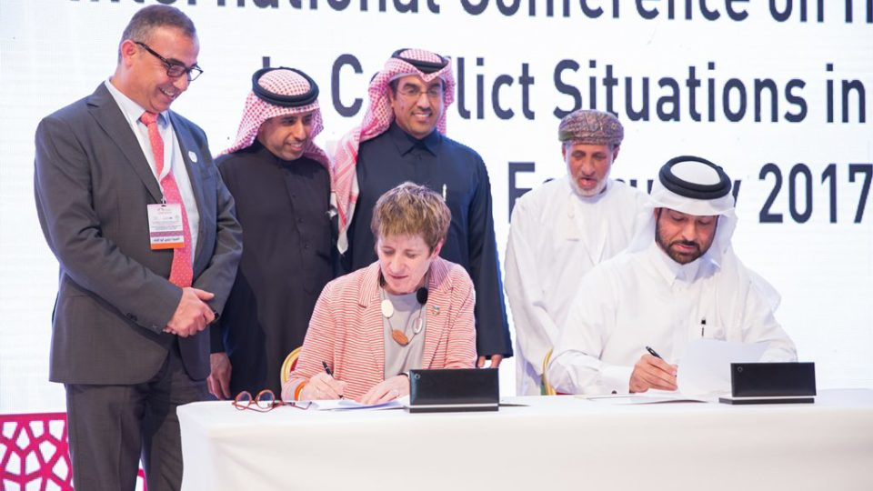 Arab Network and UNHCR Signs MOU Feb 2017