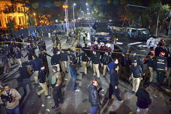 Suicidal Attack Lahore Charing Cross 13 Feb 2017