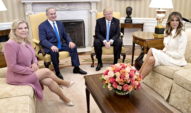 US President Trump and US First Lady receives Israeli PM Benjamin Netanyahu and Wife Sara