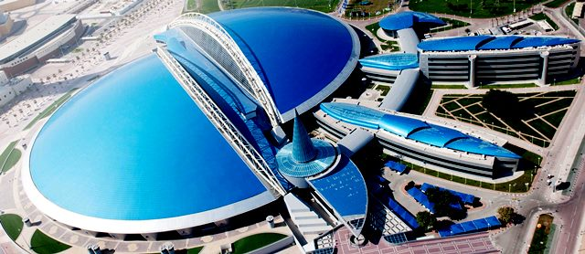An aerial view of Aspire Zone Foundation premises