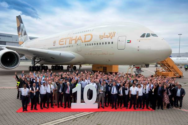 10th A380 received by Etihad Airways