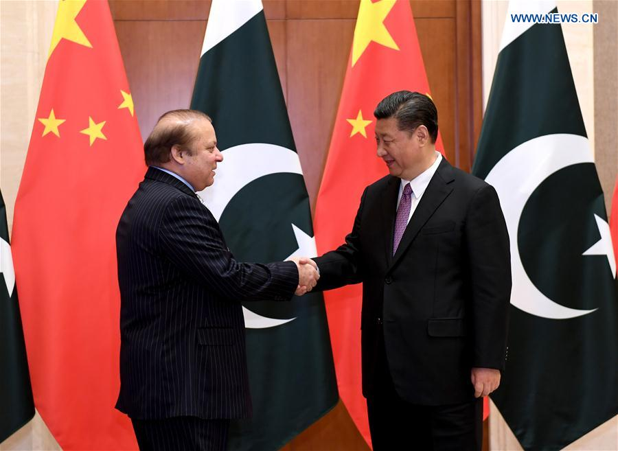 Chinese President Xi Jinping Receives Prime Minister Nawaz Sharif 13 May 2017 Poc by Xinhua