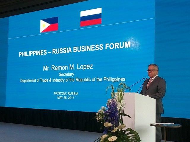 Secretary of Trade & Industry Ramon Lopez