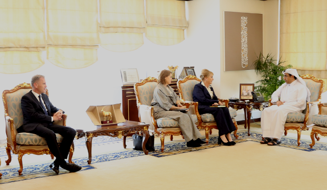 Envoys of Germany, Sweden and Dutch meets Chairman NHRC Qatar