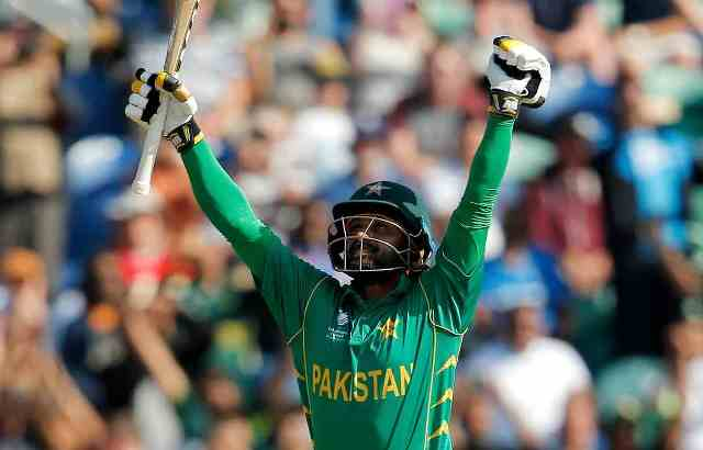 Hafeez celebrates after winning the match Pic Reuters