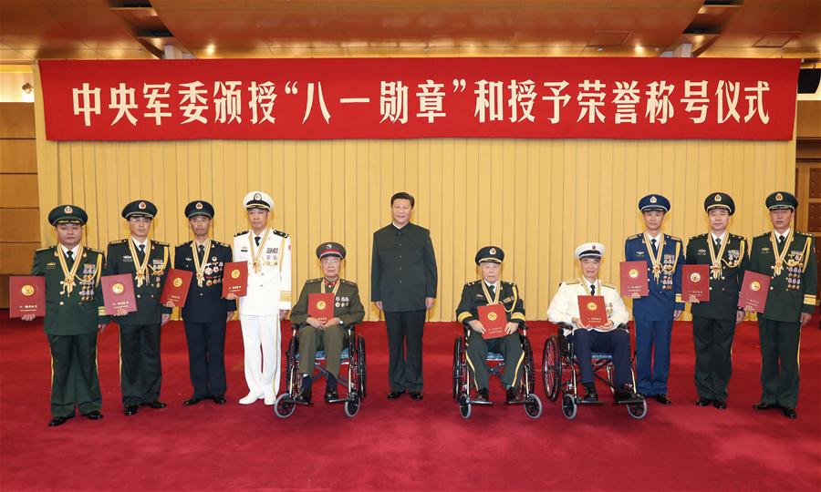 Chinese President Xi Jinping awarded the Order of Bayi, in Beijing