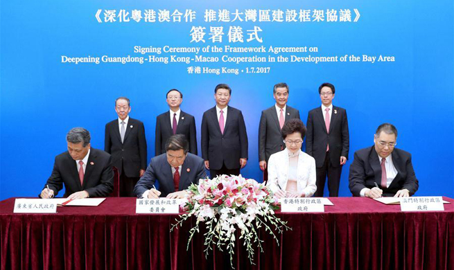 Chinese President Xi Witnesses signing of Greater Bay Area development agreement