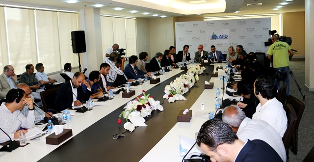 European delegation at press conference on Qatar blocked in Doha 23 July 2017