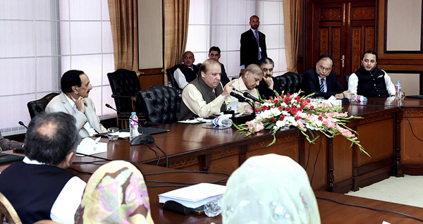 Pakistan Prime minister Nawaz Sharif in Islamabad 14 July 2017