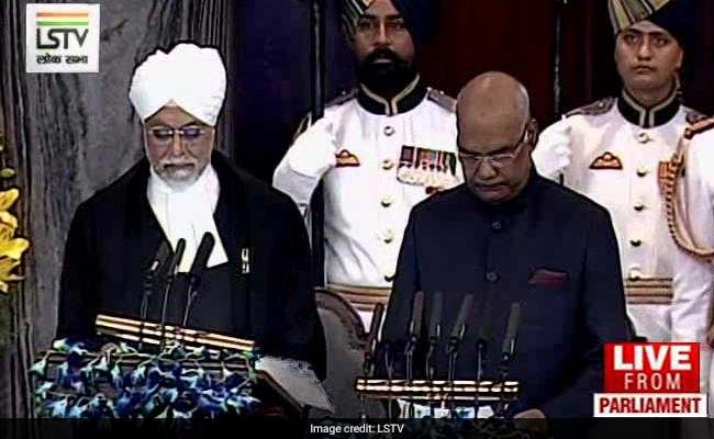 Ram Nath Kovind sworn in as 14th President of India from Chief Justice J. S. Khehar