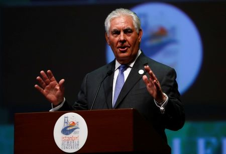Rex Tillerson addresses on the occasion of 22nd World Petroleum Congress in Istanbul on July 09