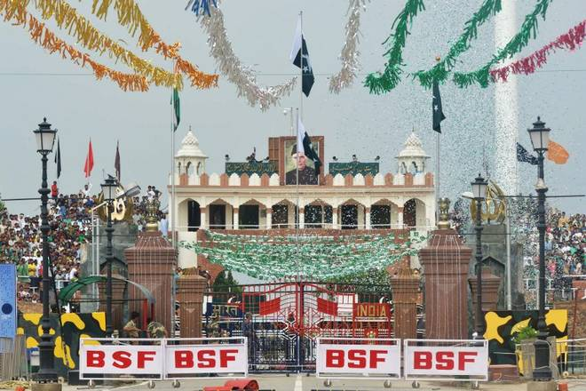 Pakistan national flag hoisted at Pakistan-Indian Waghah border reported to be 8th highest worldwide and highest in Asia Pic The Hindu India