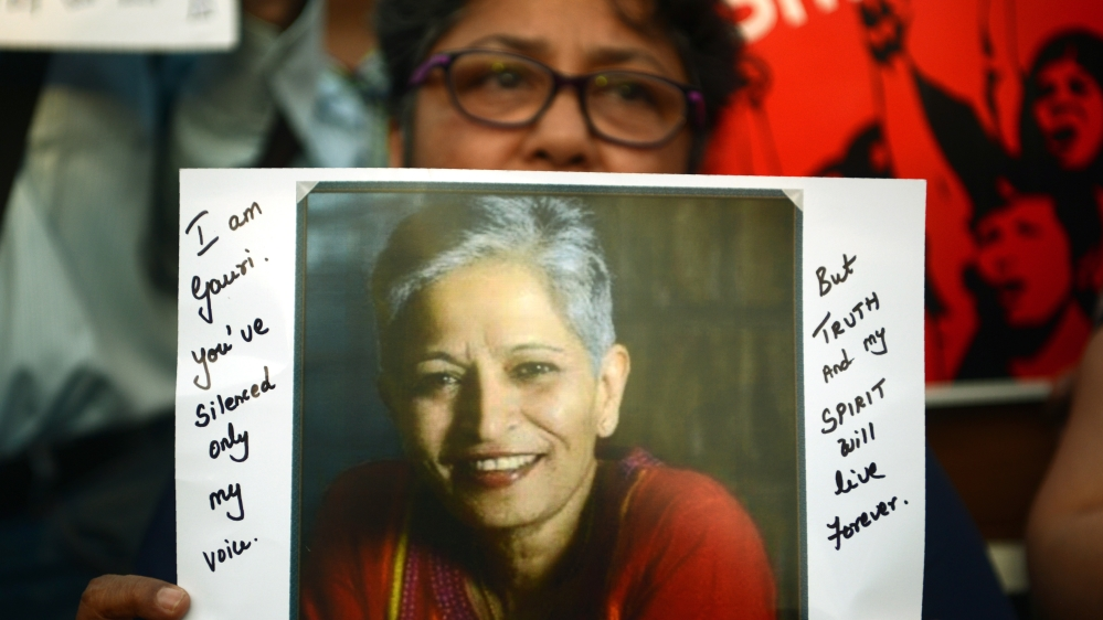 Gouri Lankesh a fearless and outspoken journalist Pic AFP Getty