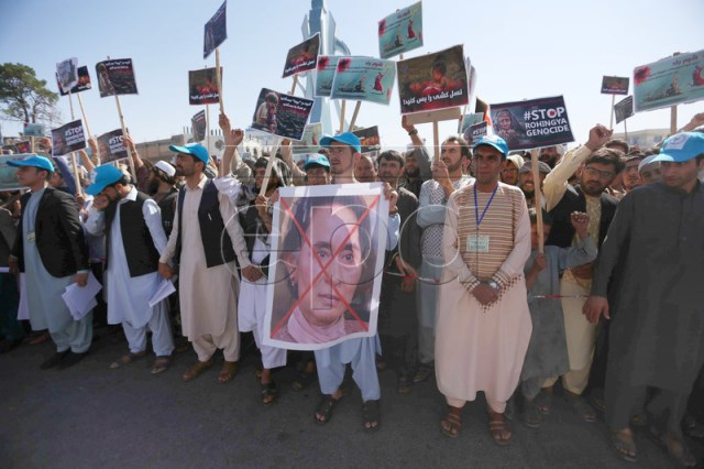 Afghans Protest 2nd day Ongoing Violence in Myanmar
