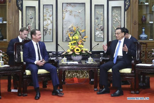 22nd China-Russia Prime Ministers' Regular Meeting 31 Oct 2017 Pic Xinhua