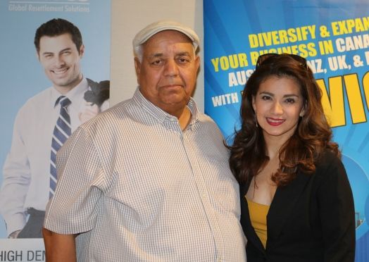 Isabel Granada seen with Ashraf Siddiqui, Editor www.asiantelegraphqatar.com at a Press Conference recently held in Doha