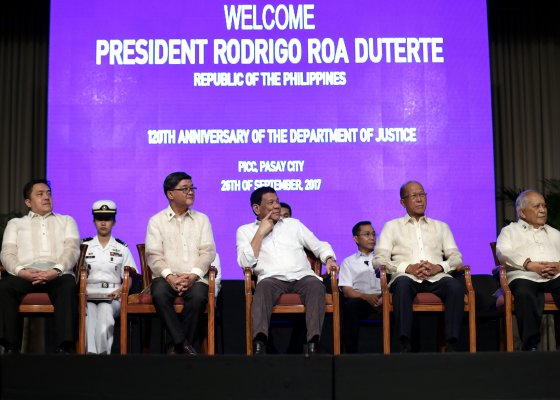 Philippines President attends 120th anniversary of Justice Department