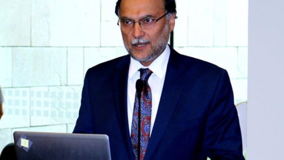 Ahsan Iqbal Pic by Ashraf Siddiqui at Georgetown University Doha Campus Nov 2017