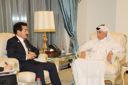 Japanese Foreign Minister of State Sato meets Qatari Counterpart