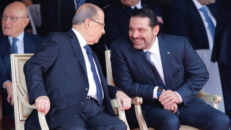 Lebanese PM Saad al-Hariri addressed the nation following a private meeting with the president in the capital, Beirut Pic Reuters-Aljazeera