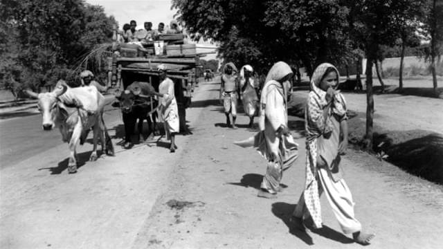 Thousands of Muslim family fled from India after violence erupted between Hindus and Muslims after partition of the country AP Photo]