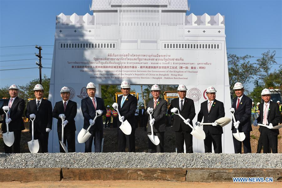 China, Thailand Inaugurate Construction of High-Speed Railway in Thailand
