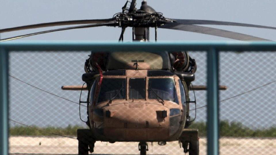 Turkish Helicopter landed iat Alexandroupoli , Greece hours after failed coup on July 15 2016 Pic AFP