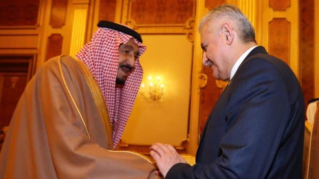 Yildirim, right, and Salman met in Riyadh amid signs of strains in ties Pic Anadolu