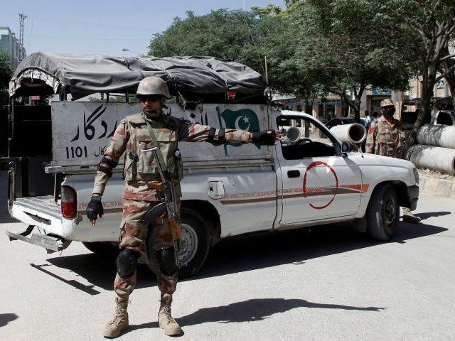 A file photo of security forces in Balochistan. Foto REUTERS, Tribune