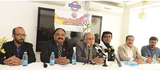 ISC Leaders addresing press conference on Friday Foto Gulf Times