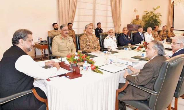 Prime Minister Khaqan Abbasi chairs Pakistan Ntl Security Committee meeting today