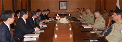 Taro Kono, Japanese FM meets Gen Qamar Bajwa in GHQ Rawalpindi