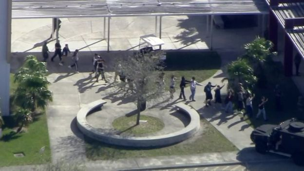 Feared Couple of Deaths and Around 50 Injured in a Shooting at High School in Parkland, Fla, USA