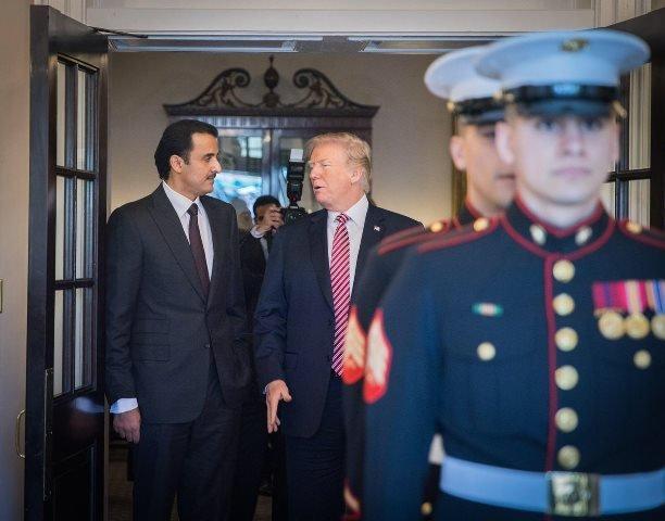 US President Trump and Emir of Qatar Discussed Strategic Relations & Regional  Issues