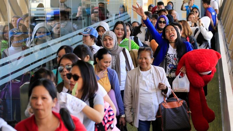 Duterte has previously ordered a ban on further deployment of Filipino workers to Kuwait