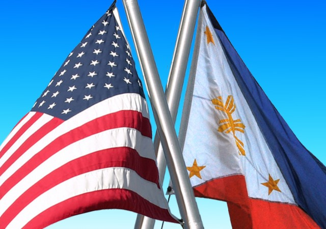 Philippines and US flags By AlManar