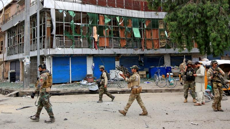 Gunmen stormed a provincial government building in Nangarhar Pic Reuters