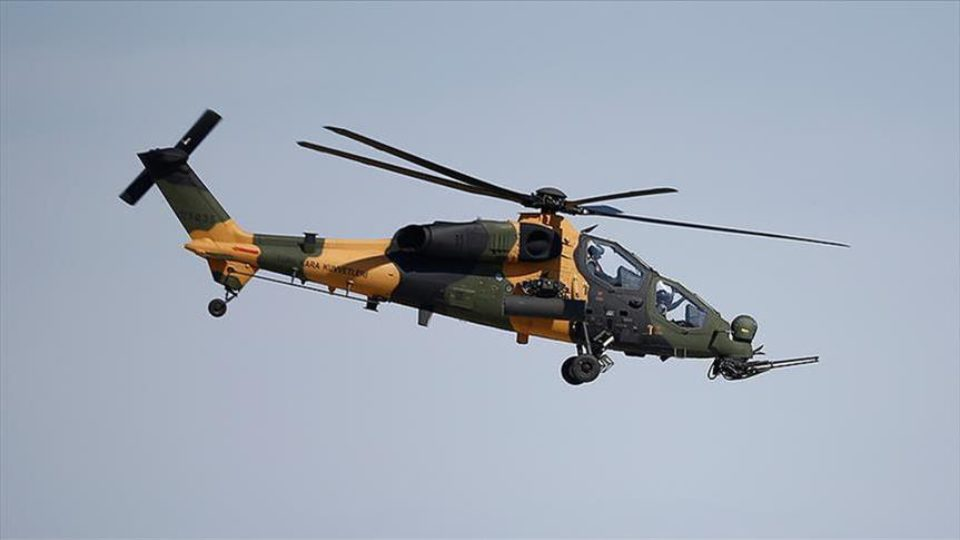 T129 ATAK Helicopter Pic by Anadolu News