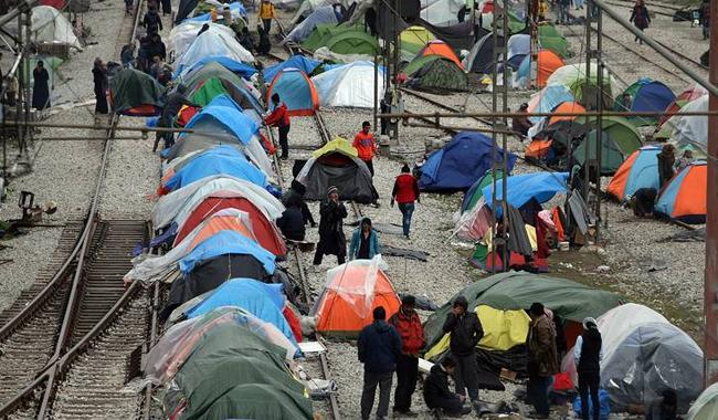 A view of migrant camp in Pakistan Pic The News Int'l