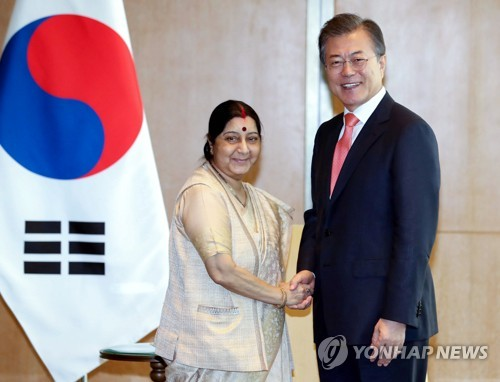 S. Korean President Vows Efforts to Enhance Ties with India