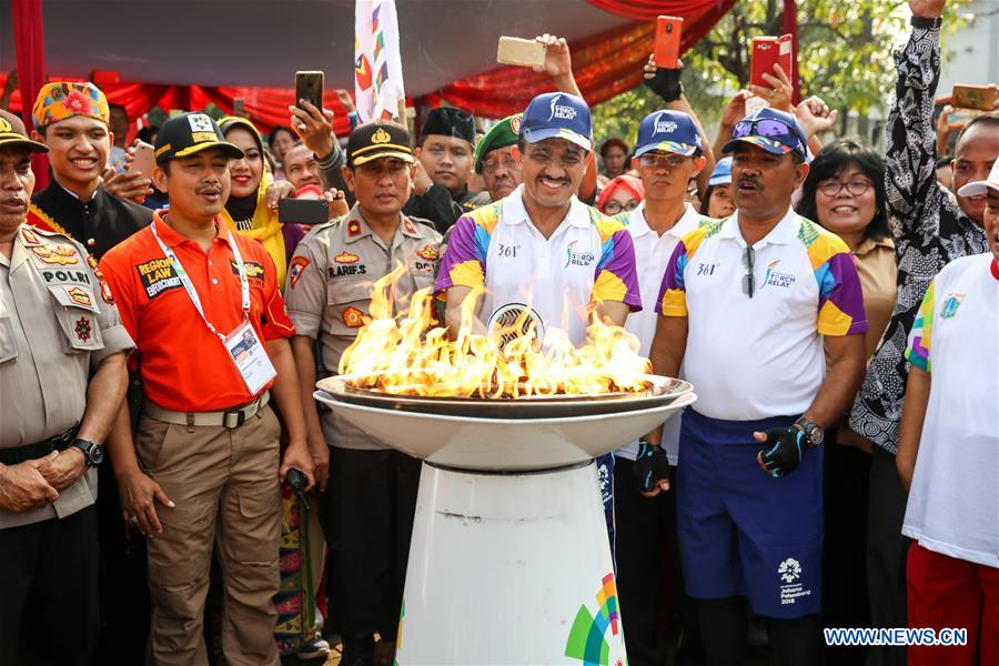 Torch Rally for 2018 Asian Games Held in Jakarta