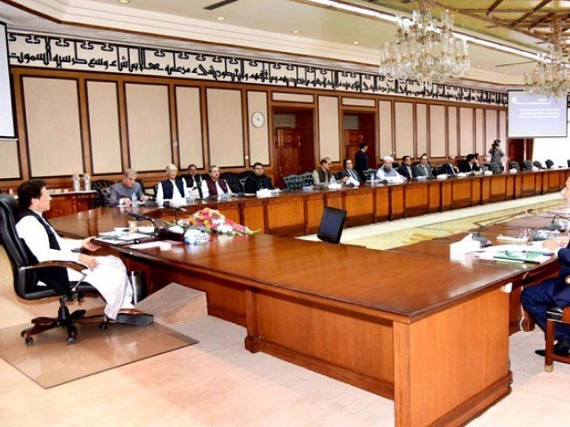 PM Imran chairs first cabinet meeting in Islamabad on Monday., Pic APP