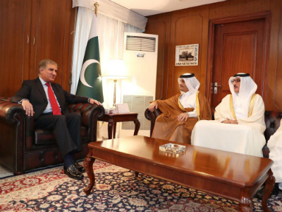 Qatar Dy. Prime Minister & Foreign Minister Met Pakistan's Prime Minister Imran Khan and Army Chief