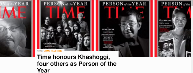Time Honours Khashoggi, four others as Person of the Year