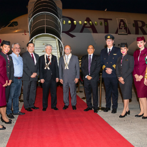 Qatar Airways Touches Down For the First Time in Davao, Philippines