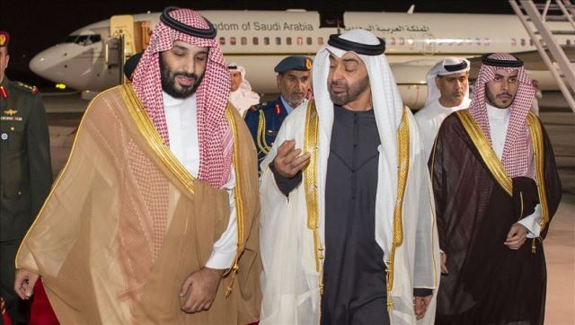 Prince Mohamed bin Salman and Sheikh Mohamad bin Zayed AlNahyan, a file picture Anadolu News