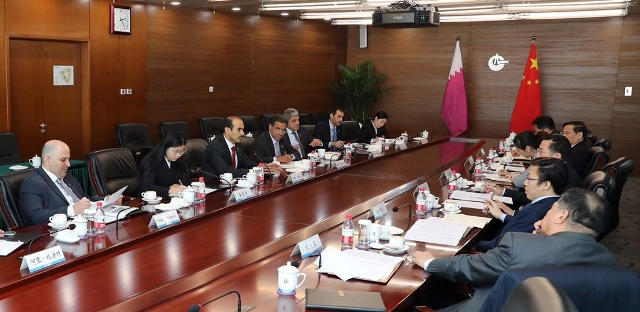 Al-Kaabi Holds Energy Cooperation Talks in Beijing with Chinese Industry Executives